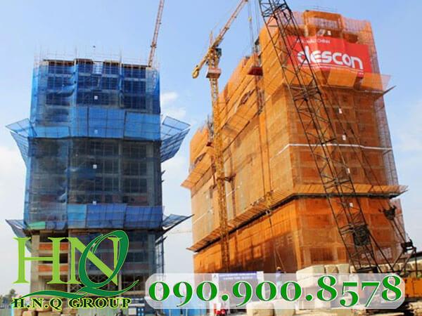 Lưới xây dựng che bụi bao che công trình