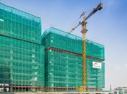 Đảm bảo an toàn xây dựng bằng che chắn lưới công trình
